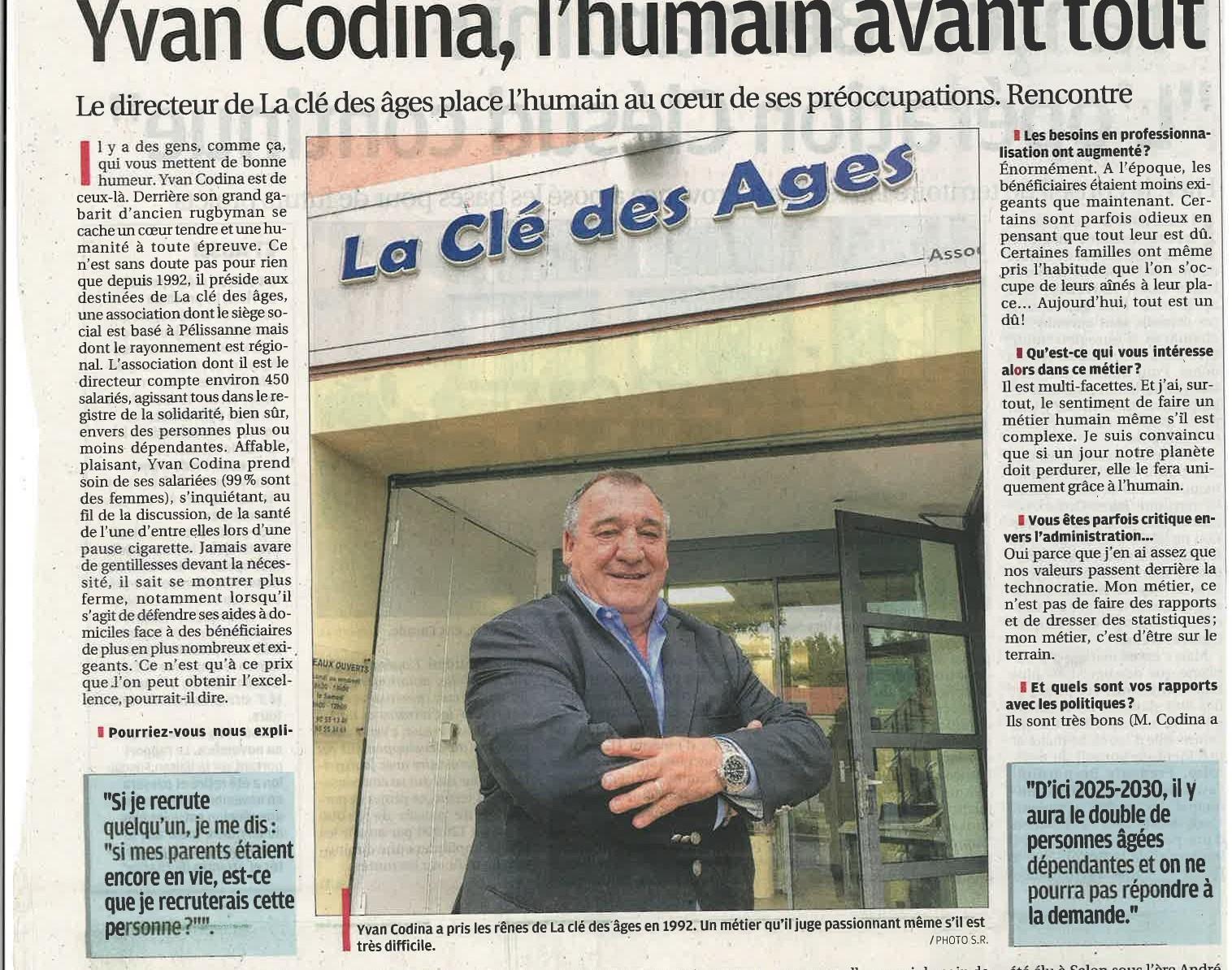 Yvan Codina, l'humain avant tout.